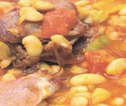 Basturma with Dried beans