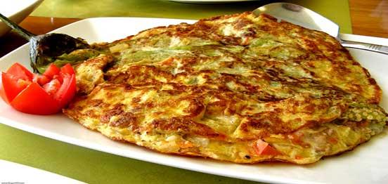 Eggplant-omelet
