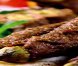 Kofta kebab with eggplant