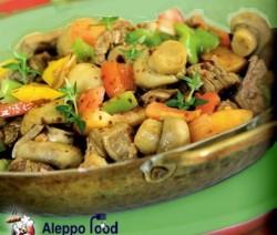 Korma meat with mushroom