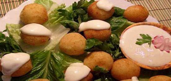 Potato Kubba with Cream and Cheese