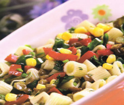 Lentil pasta salad
