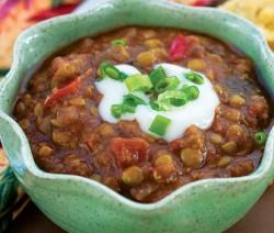 Lentil and Eggplant soup