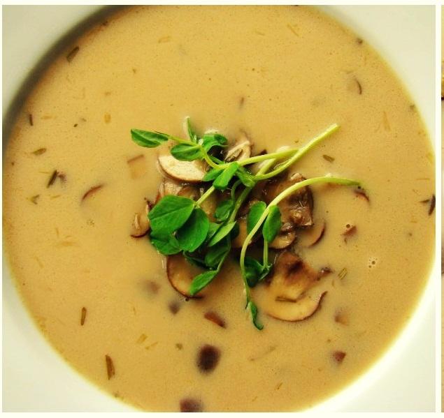 mushroom rosemary soup
