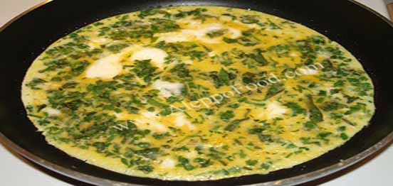 Parsley omelet