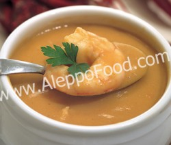 Prawn and mushroom soup