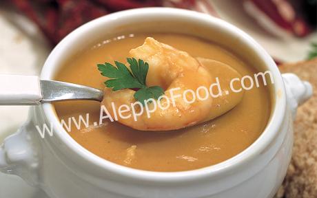 Prawn and mushroom soup