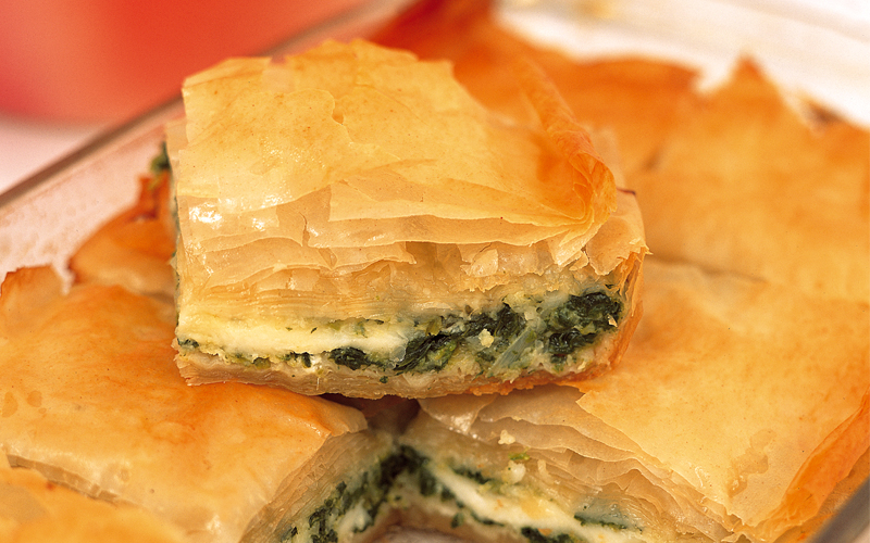 Spinach pastry