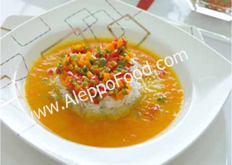 Carrots and eggplant soup.