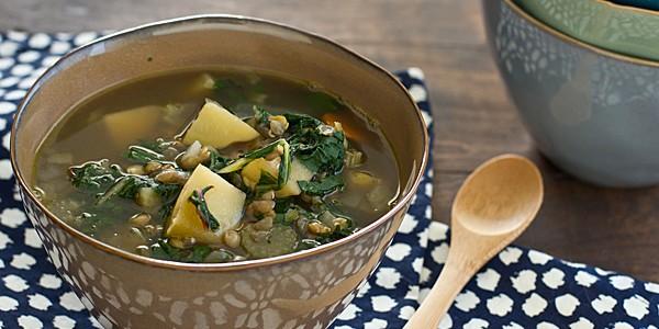 lentil chard soup