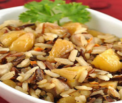 chestnuts rice