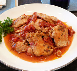 Chicken with Tomato cooked