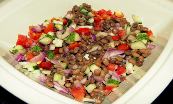dried cowpea salad