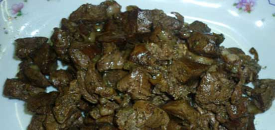Grilled Me3la2 (Sheep's Kidney, liver, spleen and heart)