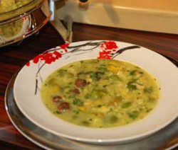 herbs and grains soup