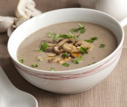 mushroom and garlic soup