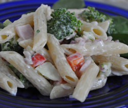 pasta with yugurt salad