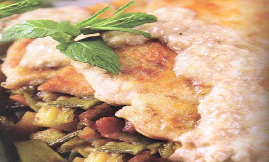 schnitzel chicken with Balsamic Vinegar