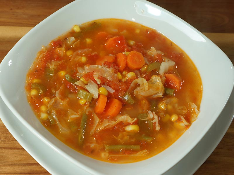 vegetable soup (Arabic method)